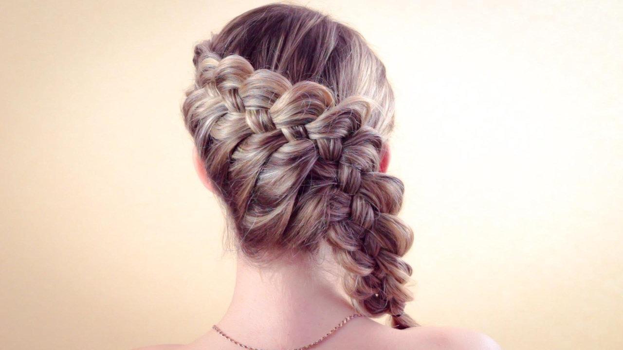 Оригинальная коса набок